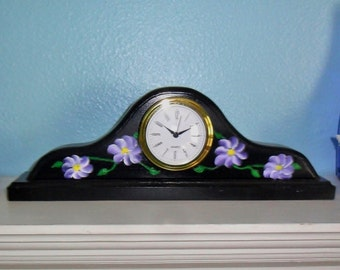 flower mantel clock