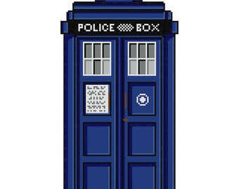 TARDIS - Doctor Who Cross Stitch Pattern