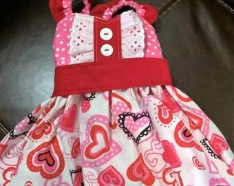 Adorable Valentine Dress, Baby Girl Valentine Dress