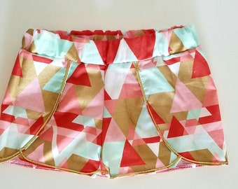 Geometric Coachella Shorts