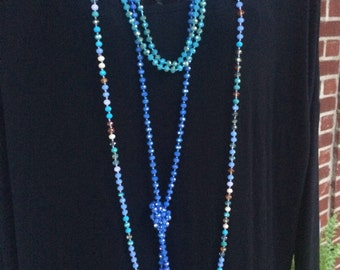 60mm hand knotted beaded necklace