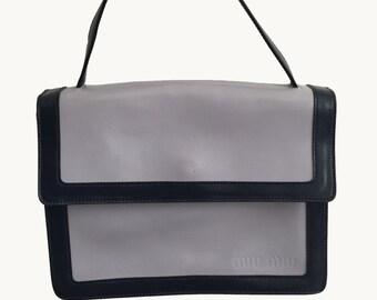 Miu Miu Two Tone Leather Handbag