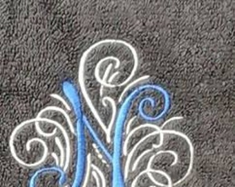 Embroidered Monogrammed towels set of 3