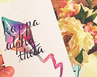 Kappa Alpha Theta Watercolor