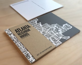 Atlanta Neighborhoods Postcard Six-Pack