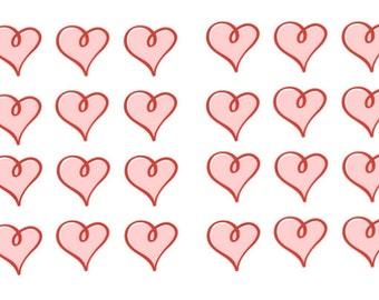 24 x Heart Stickers