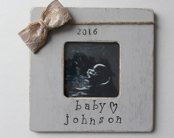 Ultrasound Picture Frame, Gender Reveal, Pregnancy Announcement, New Baby Coming Soon
