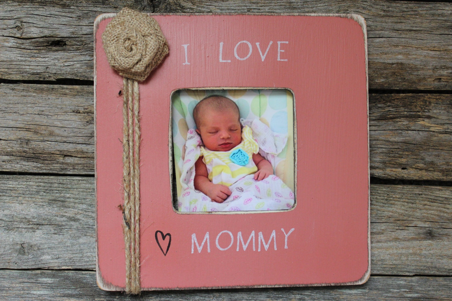 Mothers Day Gift I Love My Mommy Personalized Picture Frame