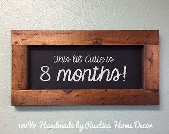 Rustic Small Framed Chalkboard 20x10 Thick Rustic Chalkboard Signs Chalkboard Frame Wedding Signs