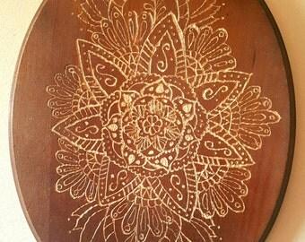 Carved Wooden Mandala Wall Art