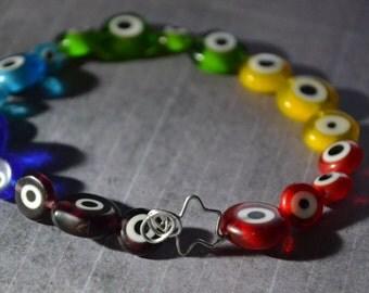 Rainbow Eye Bracelet