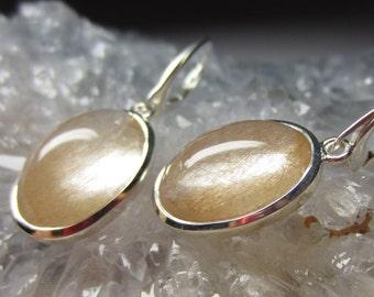 Natural Rutilated quartz earrings