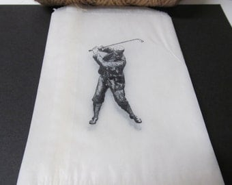 Golfer Glassine Bags, Candy Buffet Bags, Birthday Parties, Favors, Wedding, Bridal Showers, Cookie Bags, Gift Bags, Male Party Bags, Sports
