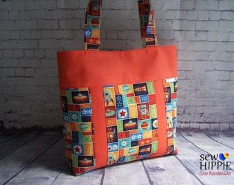 Daycare Bag, Preschool Bag, Toddler School Bag, Nappy Bag, Diaper Bag, Small Tote, Vegan Tote Bag, Children's Overnight Bag, Carry Bag