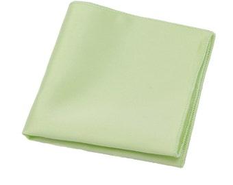 Mint Green Pocket Square. Silk Pocket Square.Mint Green Weddings.Mens Pocket Square