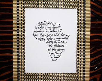 8x10 inch African Quote Art Print