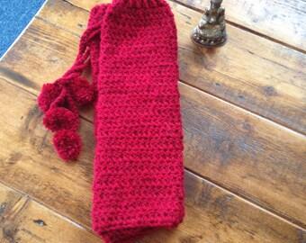 Red Crochet Leg Warmers