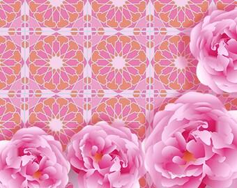 Floral Zellige Design 6 Greeting Cards, Set of 10