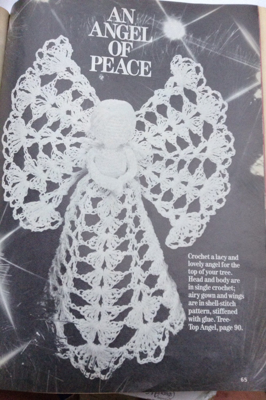 Patrón de instrucción del Angel tapa de árbol de Navidad de ...
