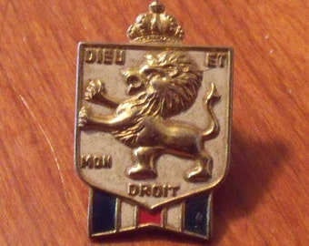 WWII British War Relief Society Pin/ BWRS Brooch