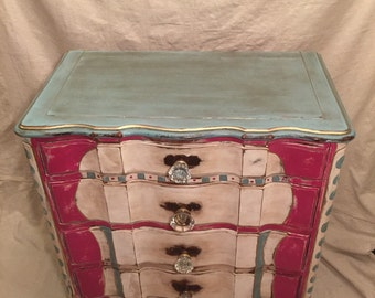 SOLD!!!!!!  Boho Gypsy 4 Drawer Dresser