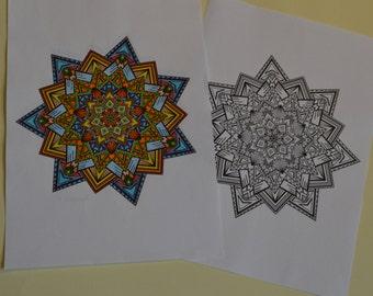 Sharpy mandala coloring page