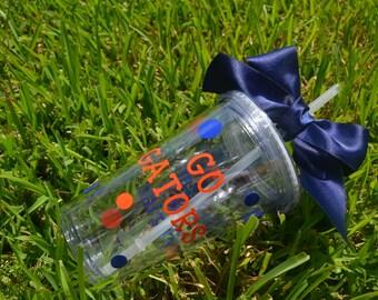 UF University of Florida Tumbler, Florida Tumbler, Gator Gift, Go Gators, University of Florida Gift, Gator Girl, Florida Gator
