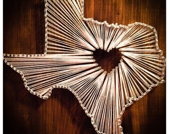 Texas Nail String Art Decor!