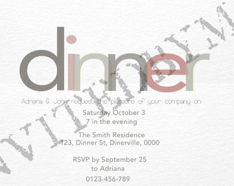 Dinner Party or Rehearsal Dinner Invitation