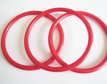 Three Red Bakelite Bracelet