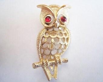 Vintage Avon Owl Pin