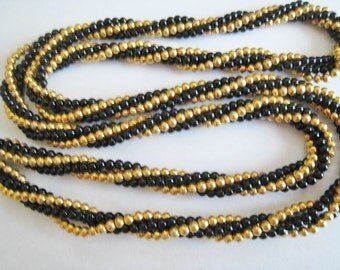 Trifari Black & Gold Tone Necklace