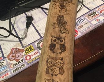 Driftwood Owl Family
