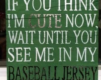 Barnwood baseball sign