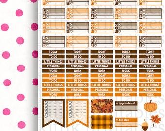 Erin Condren October Theme (Single Page) || Printable Planner Stickers || Instant Digital Download