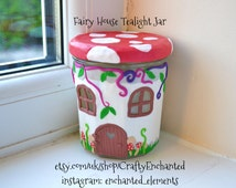 Fairy House Tealight Jar