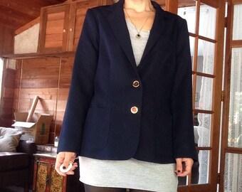 Navy Schoolgirl Prep Blazer with Gold Buttons