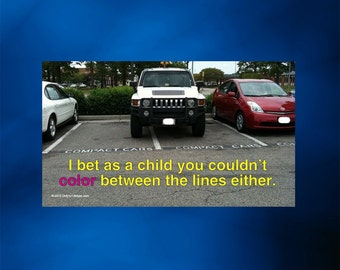 Bad Driver business card - Parking Between the Lines - 25 count