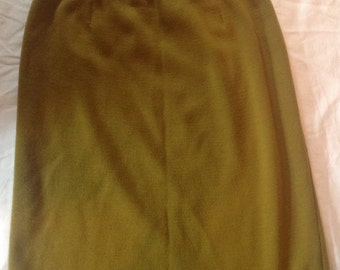 Chartreuse Rodier Skirt