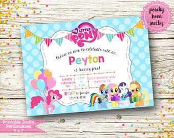 My Little Pony Inspired Birthday Invitation [DIGITAL]