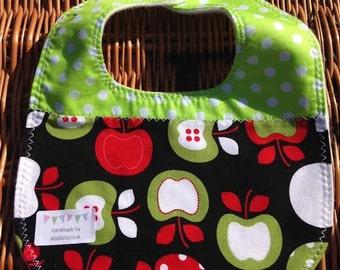 Green apple baby bib *SALE*
