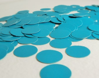 Paper Confetti - 200 pieces - Turquoise confetti - Round Confetti - party confetti