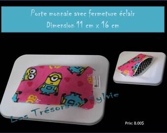 COIN purse with zipper dimension 11cm x 16 cm