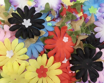 Grab of Fabric Flowers