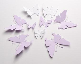 35 Paper Butterfly Stickers, Butterfly Wall Decal, 3D Wall Decor, Butterfly Party Decoration, Paper Butterflies, Butterflies Wall Art