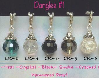 Dangles, Crystal Dangles, Floating locket dangles