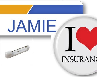 1 JAMIE Bundle Bee From Progressive Insurance Halloween Costume Name Badge Tag Pin Fastener & Button SHIPS FREE