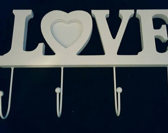 A 'Love' key hanger with picture