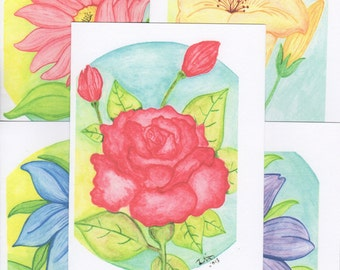 Watercolor Printed Note Cards