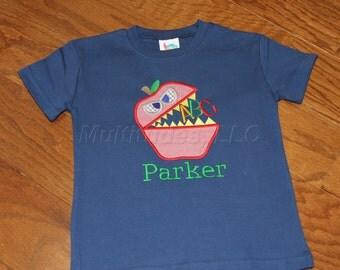 Boys Apple Monster Applique Shirt